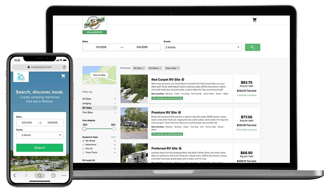 Mobile and desktop views