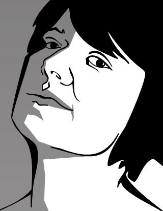 Close-up face sketch