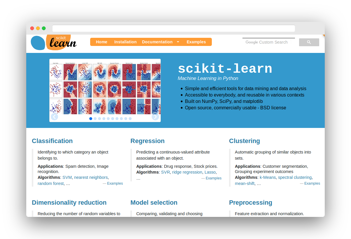 sklearn, scikit-learn, a machine learning module for python