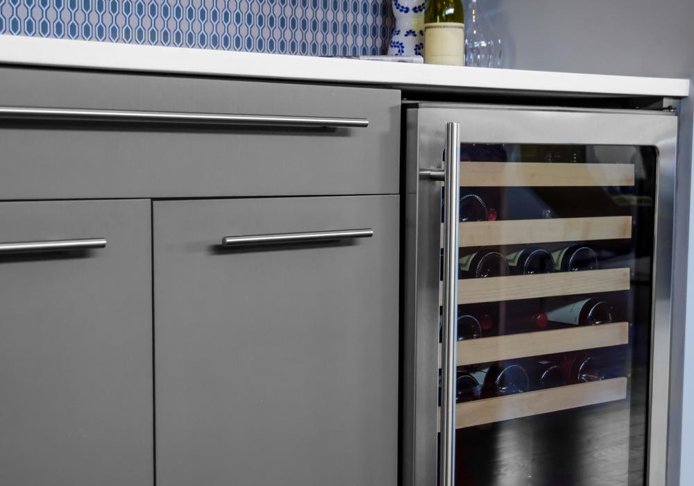 image of kitchen island with wine rack