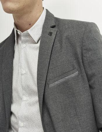 Veste homme grise poche passepoilée