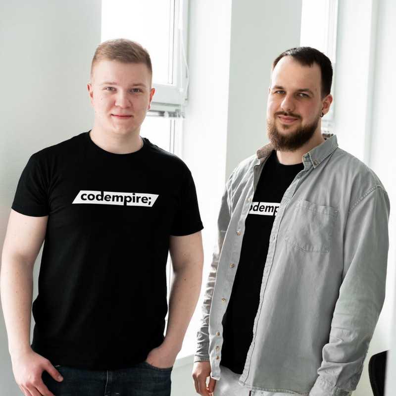 Codempire founders: Alex Sashchuk and Dima Velychko