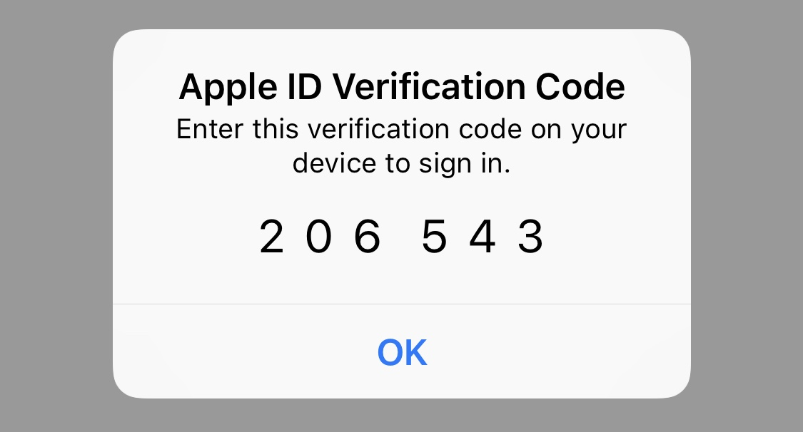 Get the two-factor auth code from an iOS device