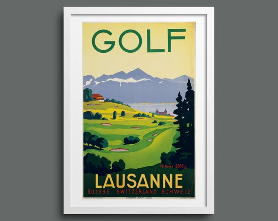 Play golf at Lausanne, Switzerland