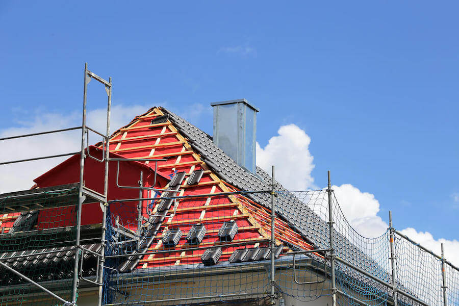 Hausdach während Kernsanierung