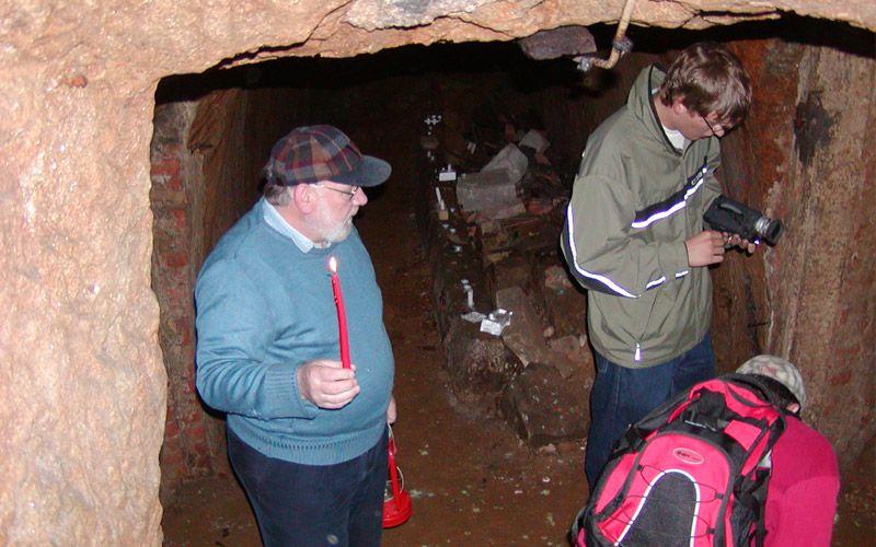Dreharbeiten in den Kellern