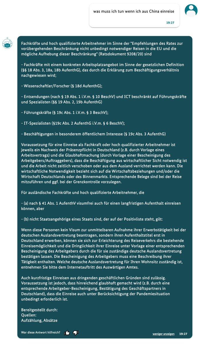 Voraussetzung für eine Einreise als Fachkraft oder hoch qualifizierter Arbeitnehmer ist jeweils ein Nachweis der Präsenzpflicht in Deutschland (z.B. durch Vorlage eines Arbeitsvertrags) und die Glaubhaftmachung (durch Vorlage einer Bescheinigung des Arbeitgebers/Auftraggebers), dass die Beschäftigung aus wirtschaftlicher Sicht notwendig ist und die Arbeit nicht zeitlich verschoben oder aus dem Ausland verrichtet werden kann. Die wirtschaftliche Notwendigkeit bezieht sich auf die Wirtschaftsbeziehungen und/oder die Wirtschaft Deutschlands oder des Binnenmarkts. Entsprechende Belege sind bei der Reise mitzuführen und ggf. bei der Grenzkontrolle vorzulegen. Für ausländische Fachkräfte und hoch qualifizierte Arbeitnehmer, die (a) nach § 41 Abs. 1 AufenthV visumfrei auch für einen langfristigen Aufenthalt einreisen können, aber (b) nicht Staatsangehörige eines Staats sind, der auf der Positivliste steht, gilt: Wenn diese Personen kein Visum zur unmittelbaren Aufnahme ihrer Erwerbstä