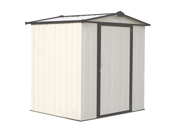 6x5 EZEE Shed in Cream with Charcoal Trim