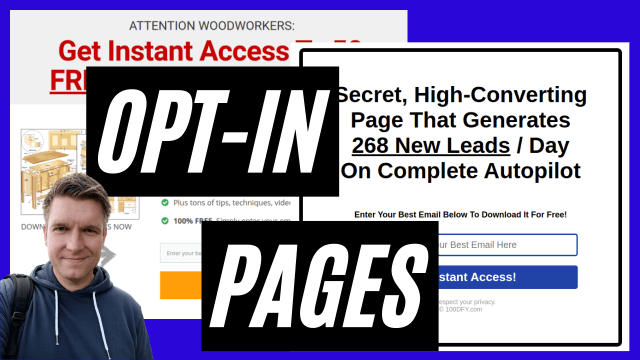 Opt-In Pages - Complete Guide - Free Download