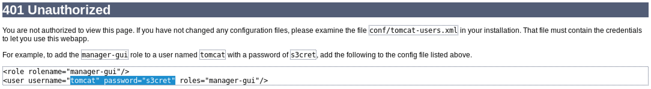 HackTheBox Jerry - Web 401 Error
