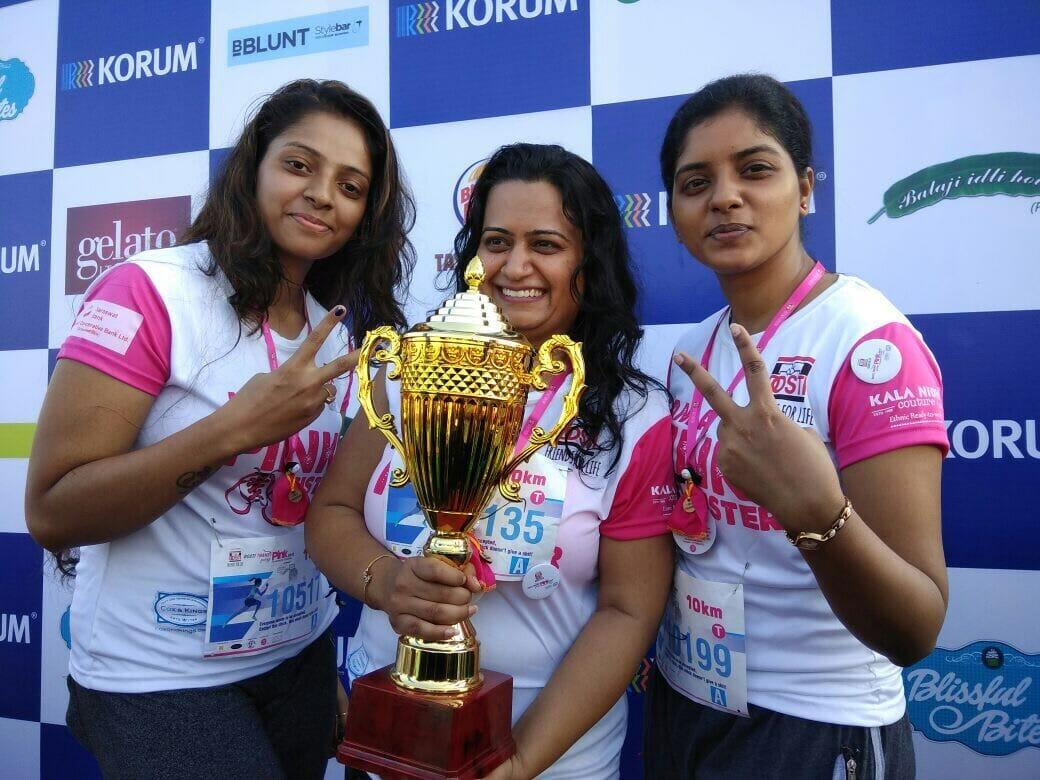 EasyHR team at the marathon