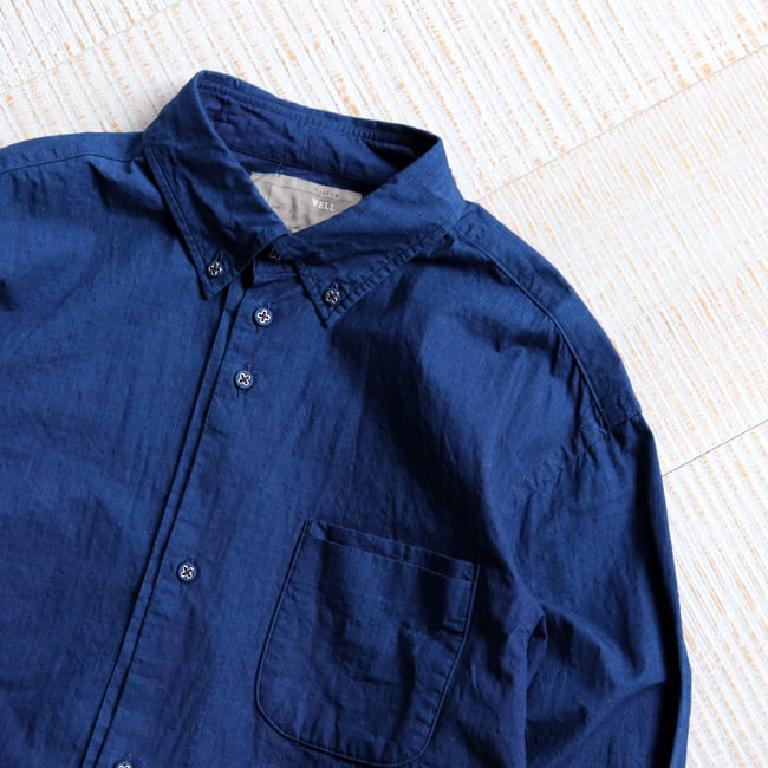 Loose Fit B.D Shirt Indigo Ripstop