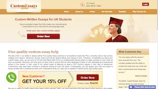 customessays.co.uk main page