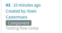 Flow component version