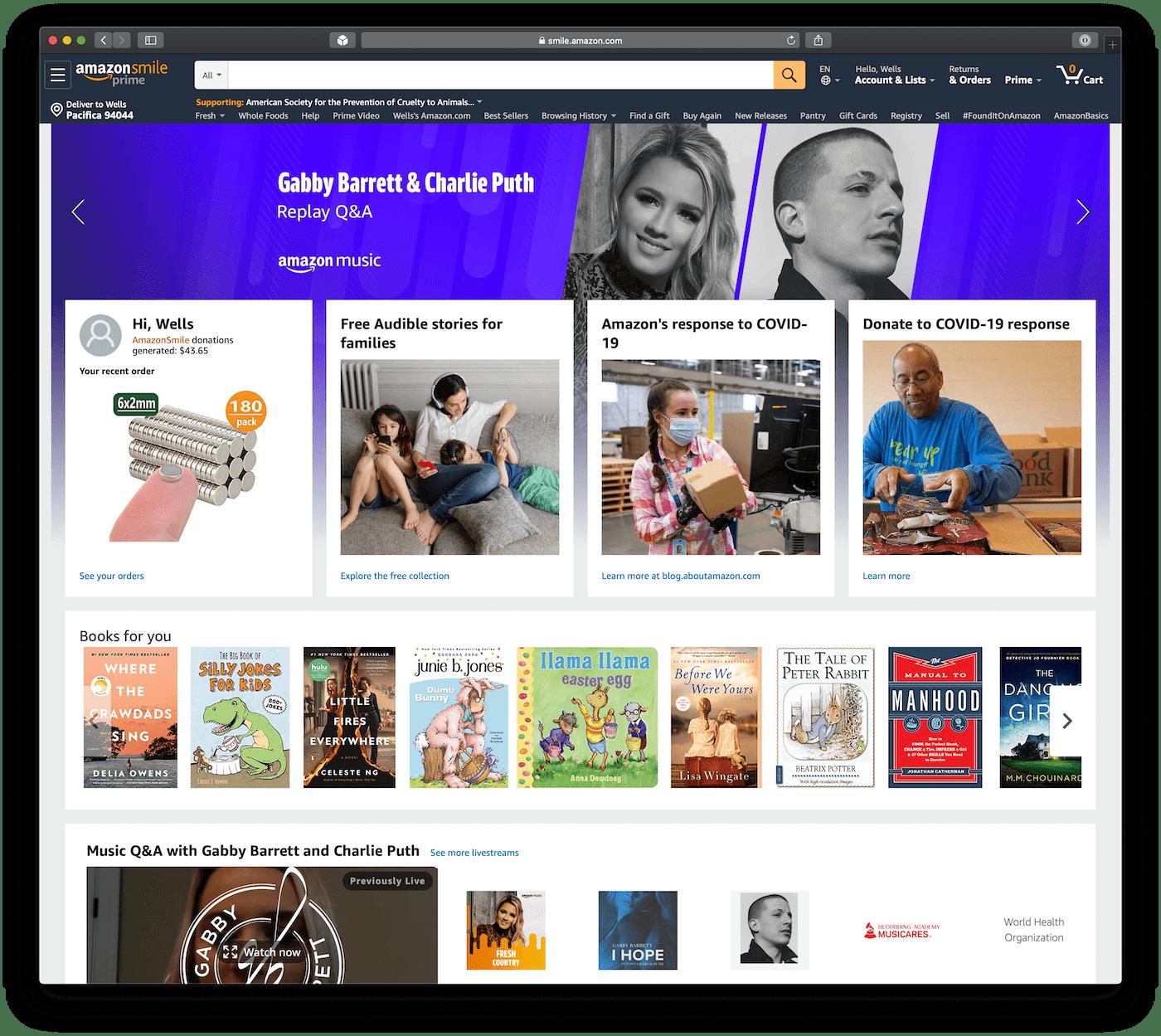amazon.com homepage before