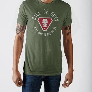 Call of Duty A Soldier In All Of Us Skull Badge Military Green T-shirt