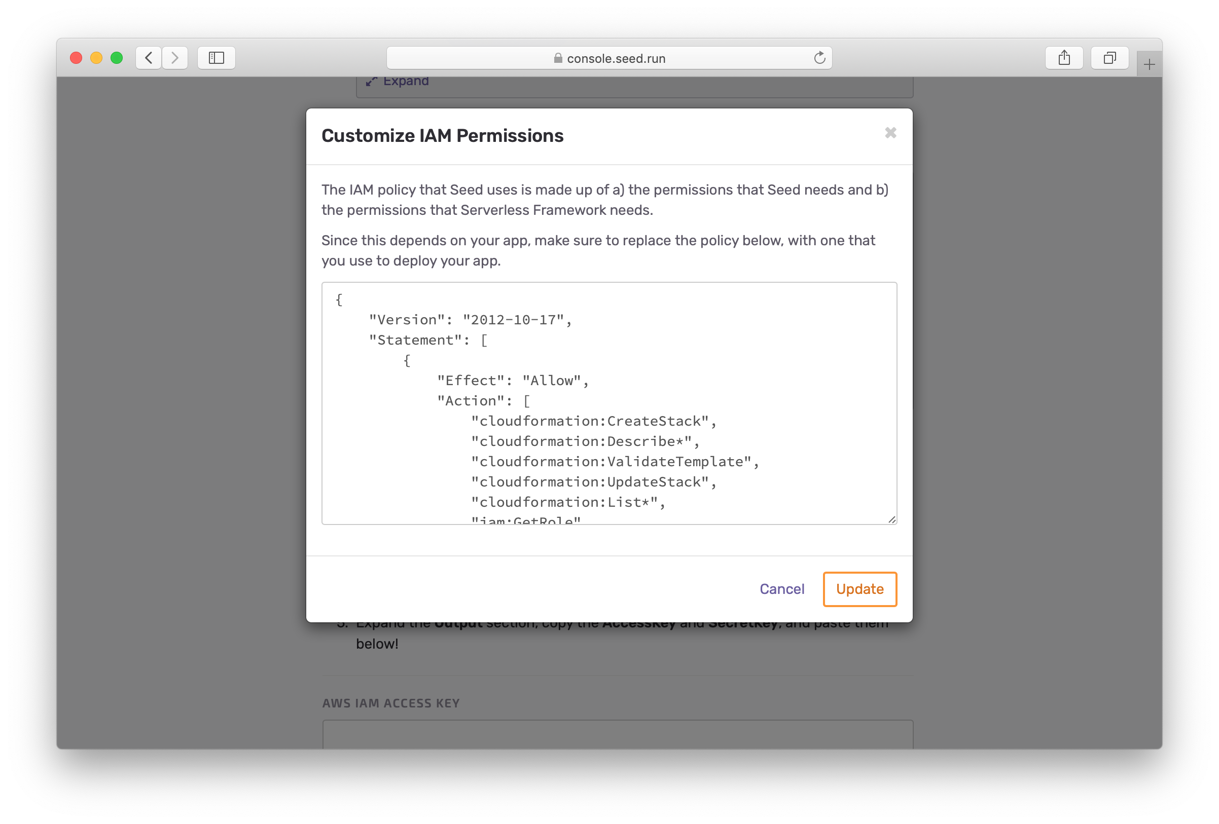 Customize Serverless Framework permissions