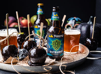 Candied Apples infused with Pyramid Brewing IPA beer