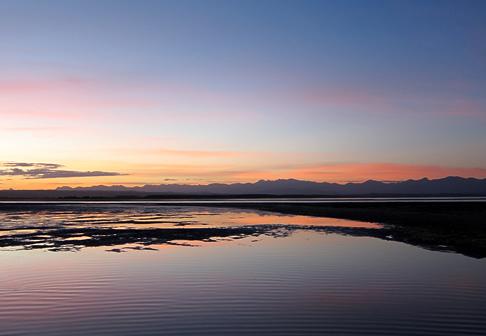 Sunset over Tahunanui Beach