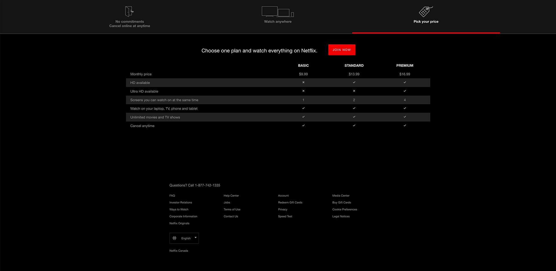 Netflix - BestPricingPages