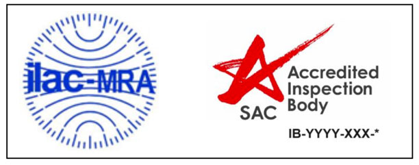 Combined ILAC MRA Mark for Accredited Inspection Body