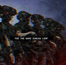 Boogaloo Propaganda vowing vengeance 'For the Name Duncan Lemp.' It's done in the 'Fashwave' style made popular by neo-Nazi terror groups like Atomwaffen Division.