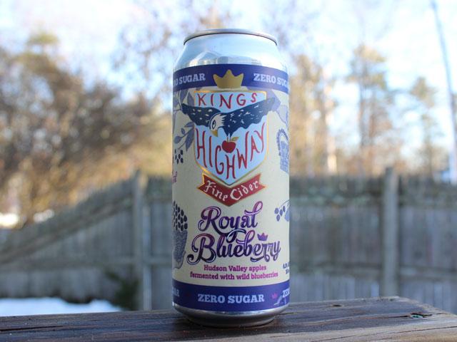 Royal Blueberry, a Hard Cider brewed by Kings Highway Fine Cider