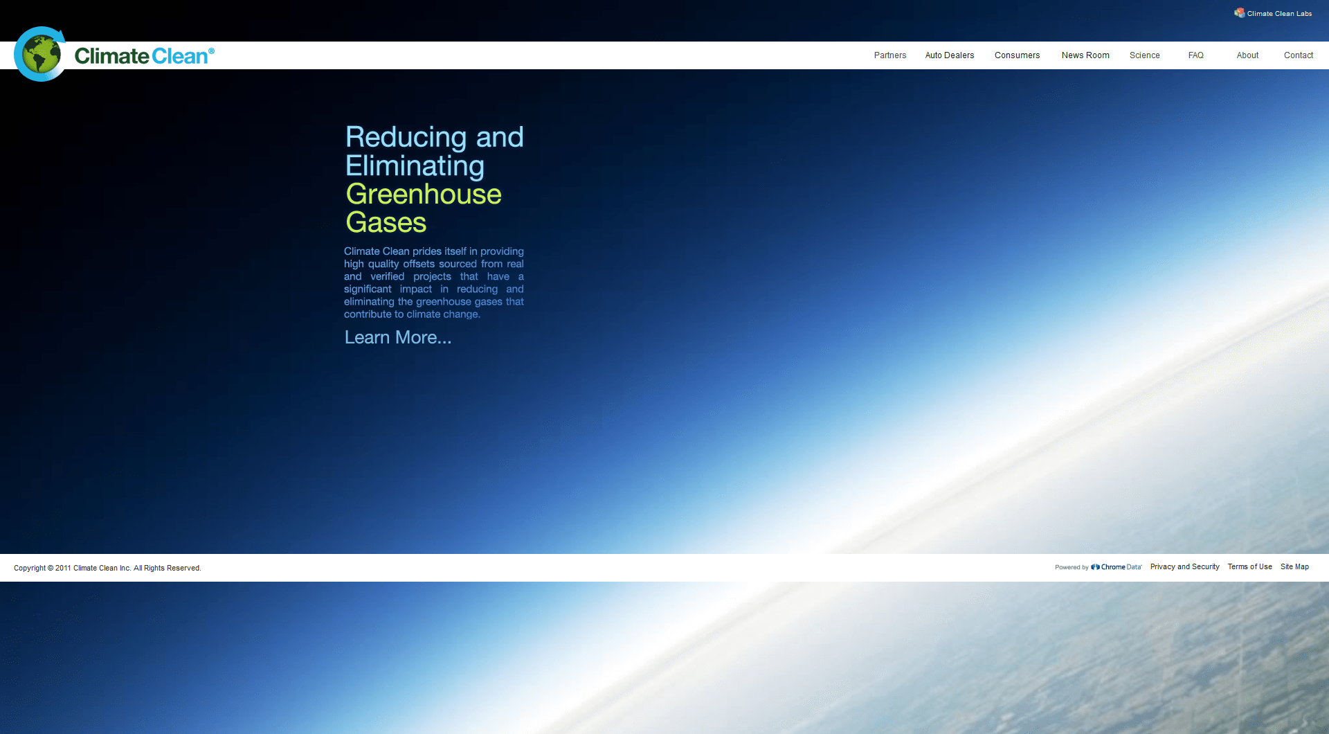 Climate Clean home page