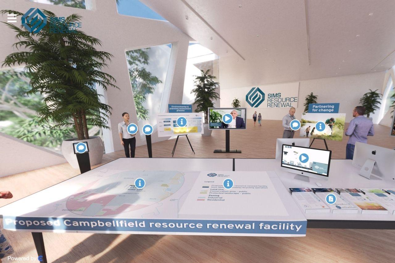 Virtual engagement room