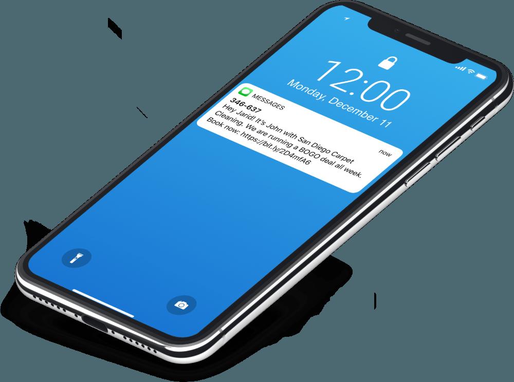 SMS Blast phone view