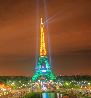 Green & Gold Eiffel Tower