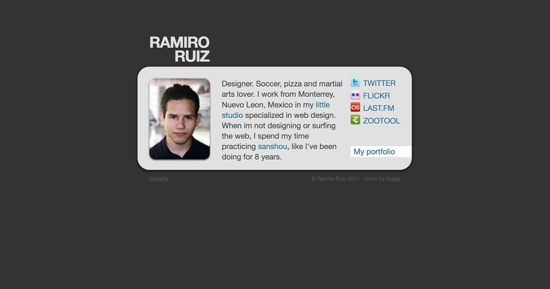 My second portfolio site