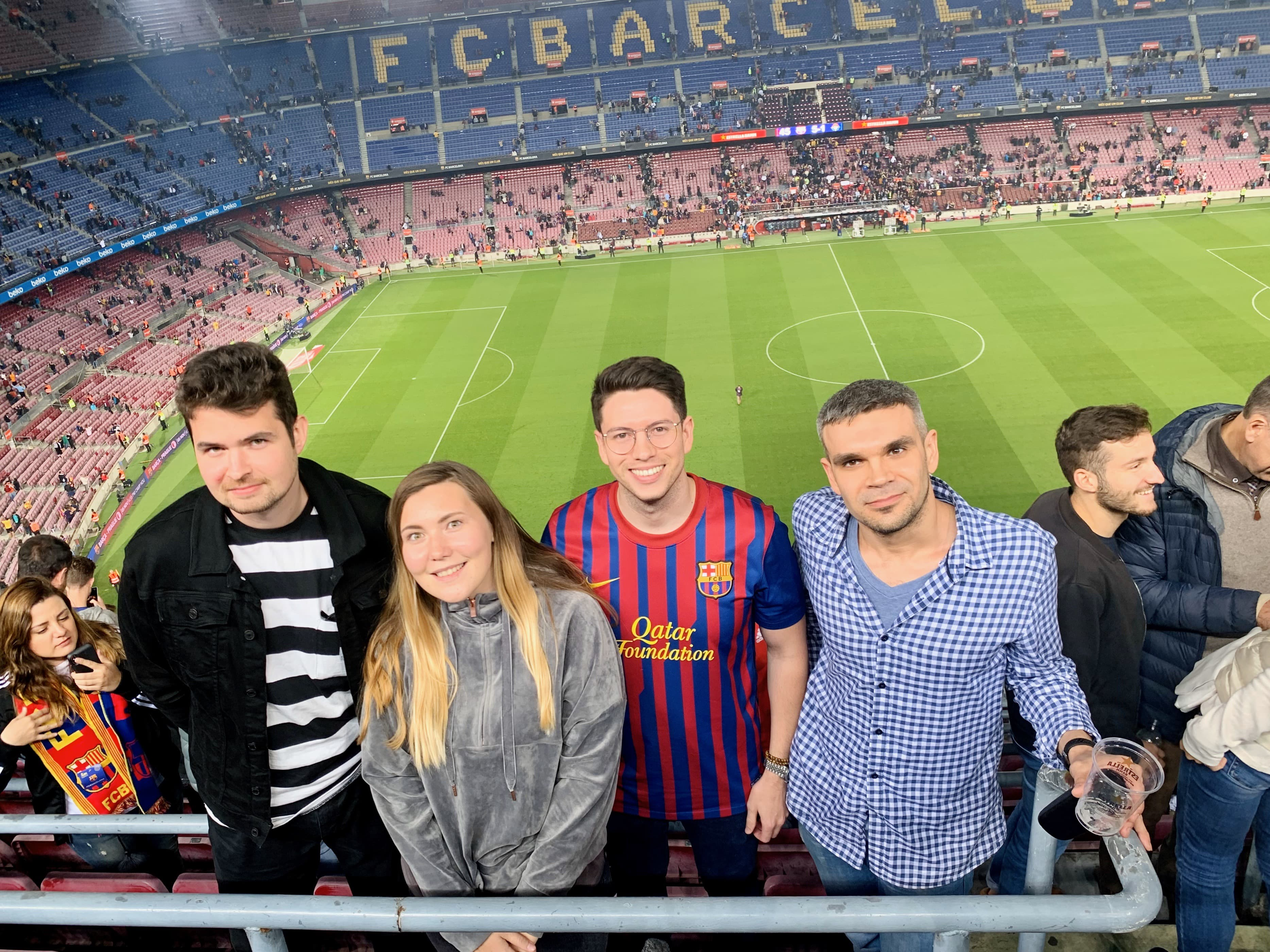 A group of us went to Camp Nou