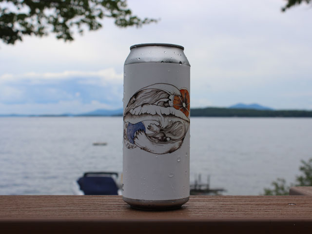 Wild River, a Belgian Style White Ale brewed by Tuckerman Brewing Company