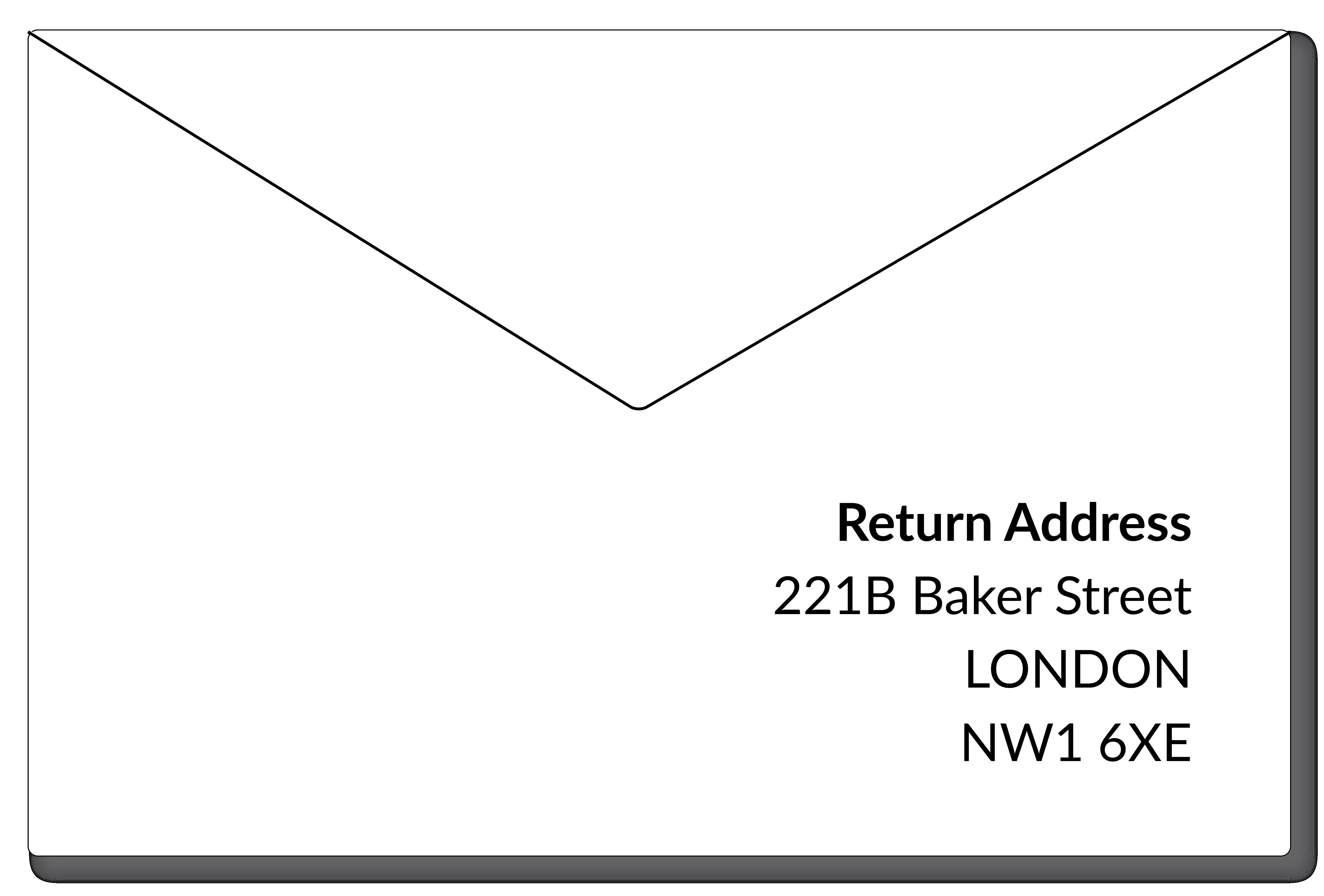 UK Return Address Format