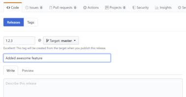 GitHub create release