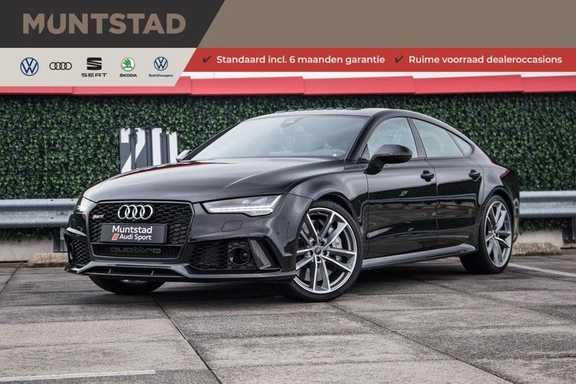 Audi RS7 4.0 TFSI RS7 605 pk quattro performance | Pano-dak | RS dynamic plus pakket | B&O Advanced sound system | Carbon optiekpakket | 360 camera | Adapt. cruise | Sportdifferentieel |