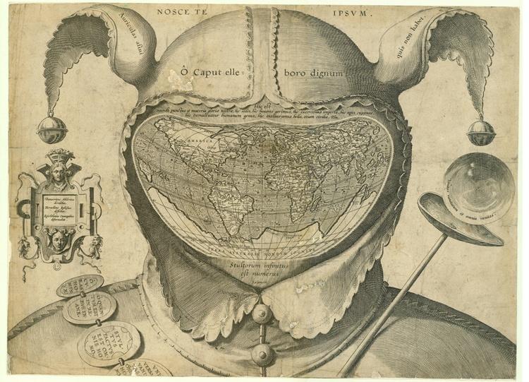 "Cordiform World Map in Fool's Cap,"""