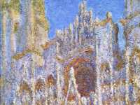 Monet produced 30 canvasses of Rouen Cathedral from spring 1892, renting a room overlooking the cathedral so that he could paint from exactly the same spot each day.