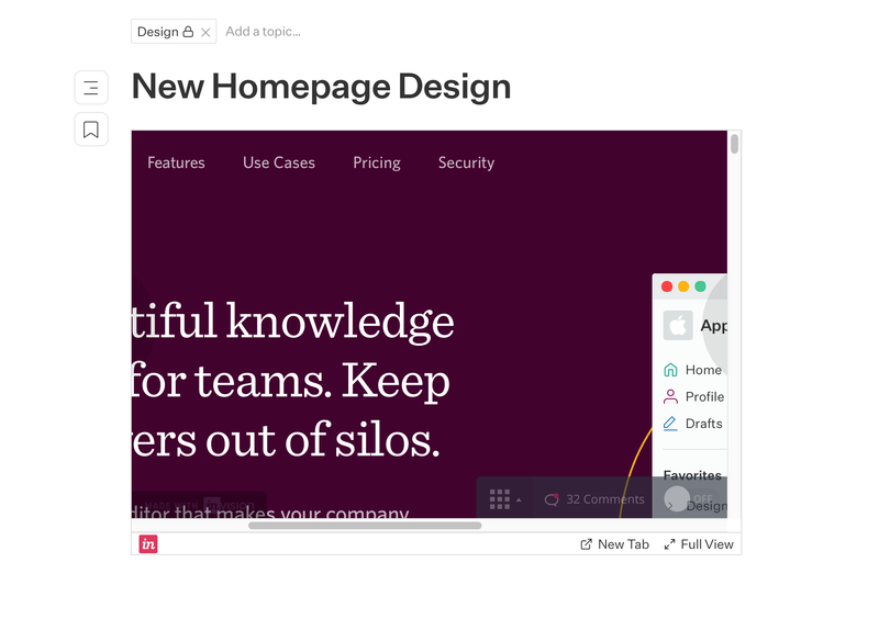 Embed Invision