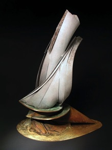 "Jon Havener, USA. ""The Sail Days"" 2005. Steel, bronze, heigh 100cm"