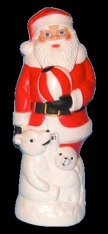 Santa With Bear photo