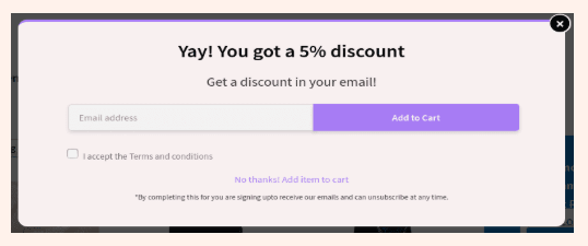 Retainful email collection popup