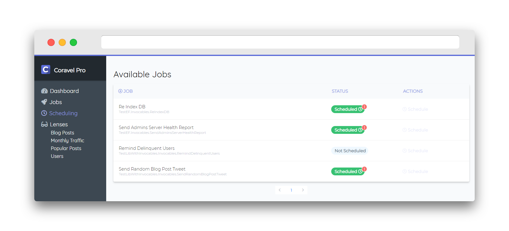 Coravel Pro: Admin Panel For Your  NET Core Applications