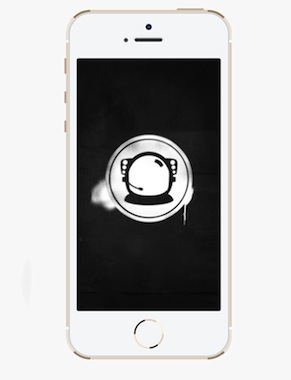The Astronaut Wallpaper - Stencil Effect - iPhone 5/5c/5s