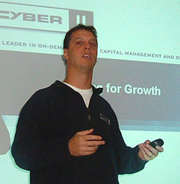 Adam Miller in 2002 giving a presentation