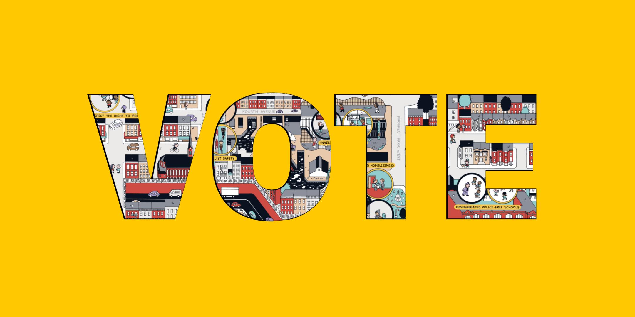 Illustrated Vote Header
