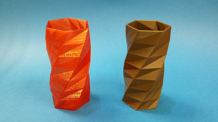 Flash Forge Creator Pro 3D Printed Twisted Vase