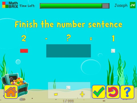 Add and subtract fluently within 5 using brix Math Game