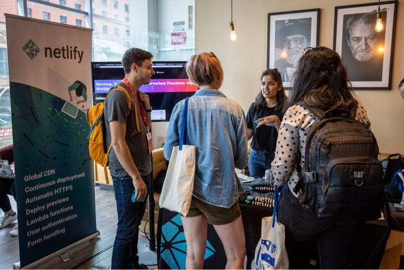 Netlify team at a Smashing Conference